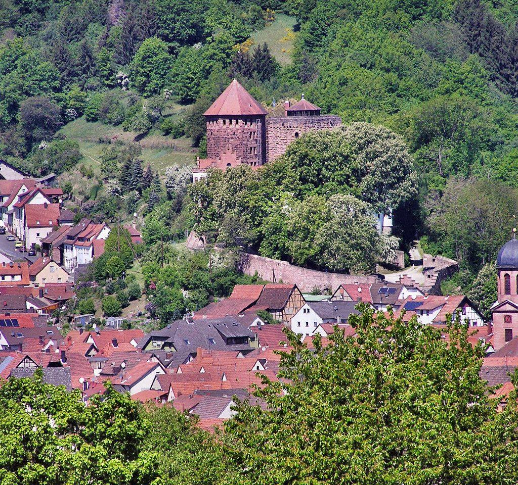 Blick auf die Burg in Rieneck