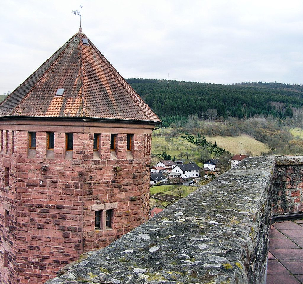Blick von Turm der Burg